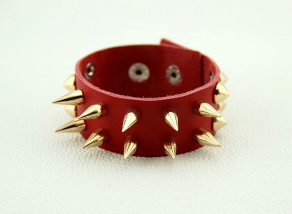 Punk Rivet Design Faux Leather Bracelet