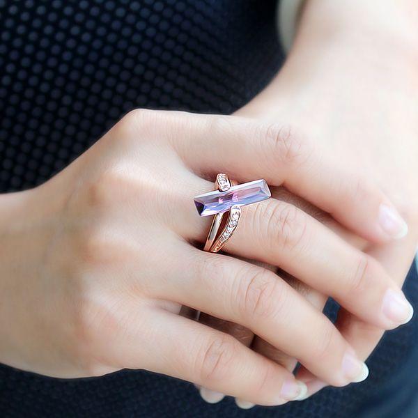Vintage Diamante Faux Crystal Ring