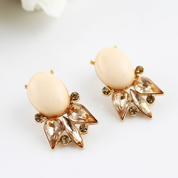 Pair of Vintage Fish Shape Faux Gemstone Earrings
