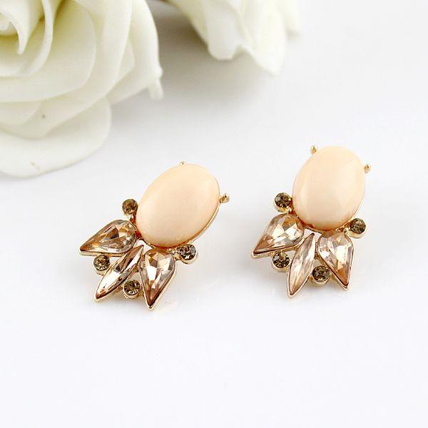 Pair of Vintage Fish Shape Faux Gemstone Earrings