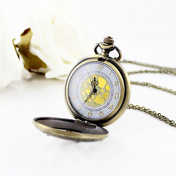 Bird and Pocket Watch Shape Pendant Sweater Chain
