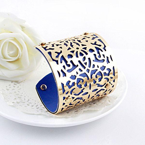 Punk Flower Vine Carving Openwork Bracelet