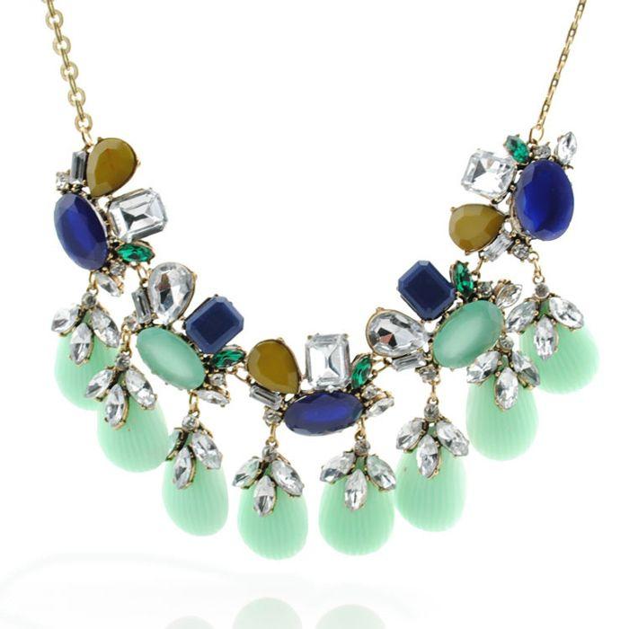 Alloy Diamante Shell Pendant Necklace