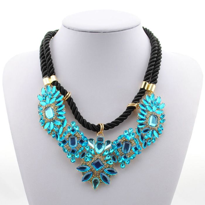 Gorgeous Colored Faux Crystal Pendant Necklace For Women