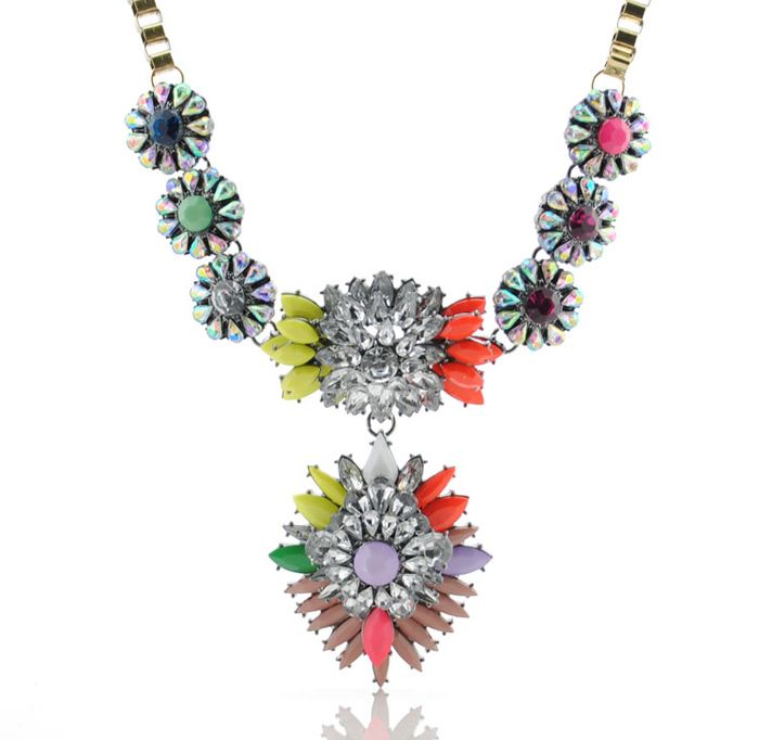 Statement Heronsbill Pendant Alloy Necklace