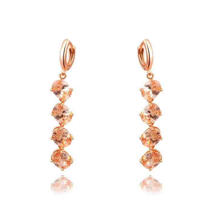 Pair of Faux Crystal Alloy Long Earrings