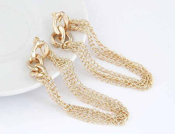 Chain Tassels Drop Earrings