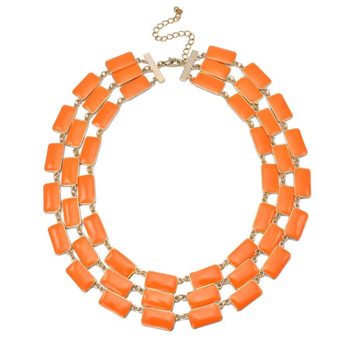 Multilayered Geometric Alloy Necklace