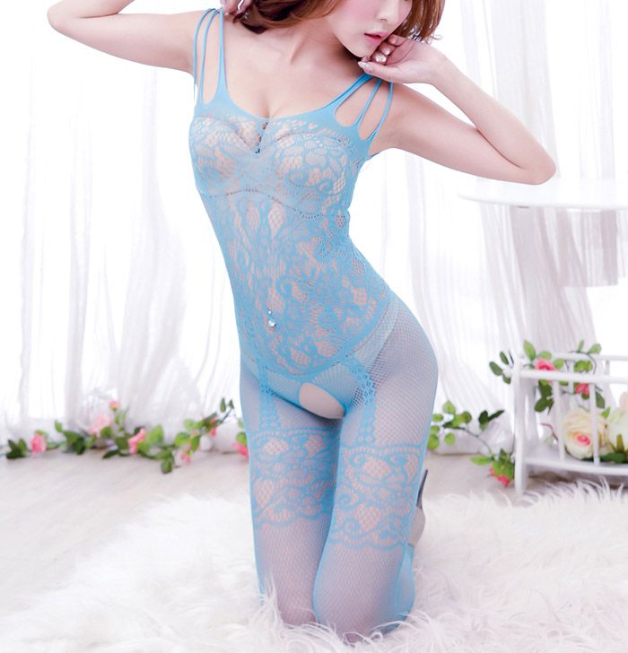 Sexy Style See-Through Lace Alluring Open-Seat Women's Corsets Garters
