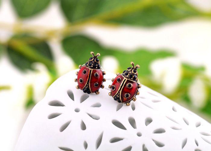 Pair of Vintage Ladybug Shape Stud Earrings