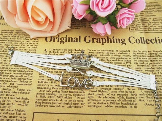 Crown Love Infinity Multilayered Bracelet