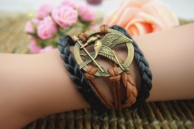 Retro Arrow Bird Round Braided Bracelet
