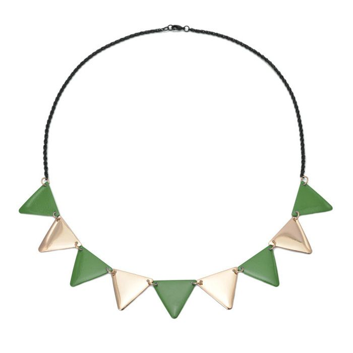 Alloy Triangle Pendant Necklace