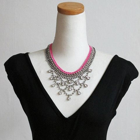 Faux Gemstone Double Layered Necklace