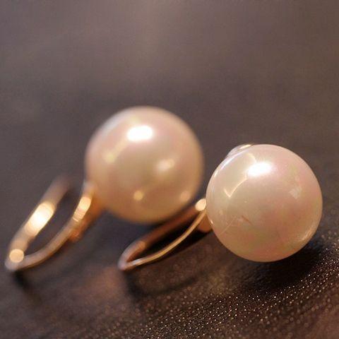 Fake Pearl Drop Earrings