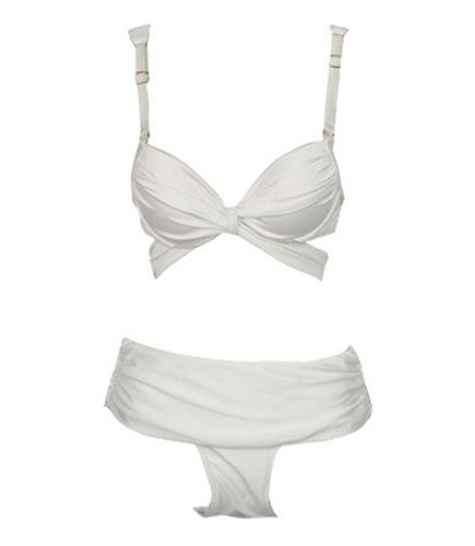 Spaghetti Strap Solid Color Sexy Style Nylon Bikini Women's Swimming Suit