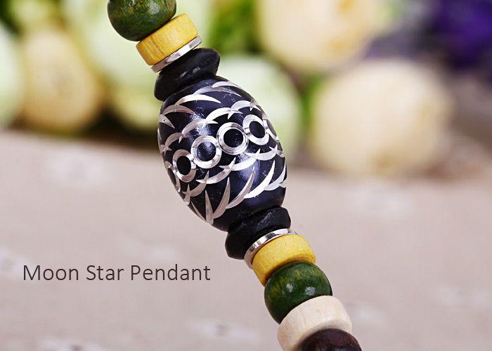 Quartz Wrist Watch Beads Chain Round Dial Arabic Numerals Display for Women