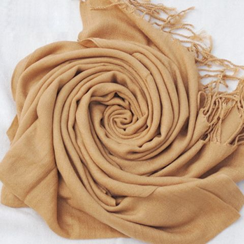 Simple Pure Color Tassels Scarf For Women