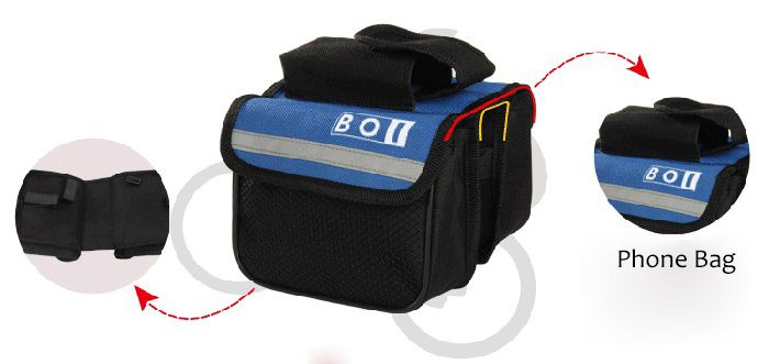 BOI Multiple Pocket Saddle Bag Phone Pack Mountain Bike Bicycle Motorcycle Accessories