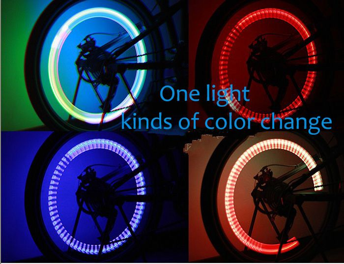 1PC Fashionable Colorful Bicycle Hot Wheels Bike RGB Valve Core Light Lamp Amazing Gift