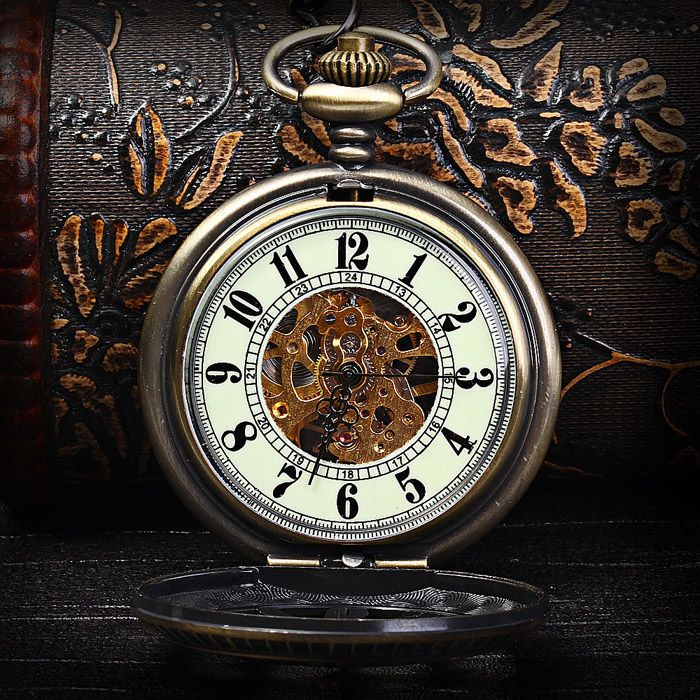 Flip Mechanical Watch Pocket Watches Hollow-out Style
