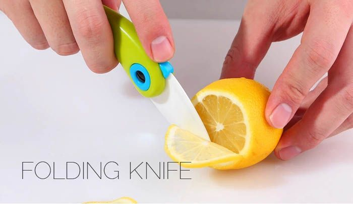 1 Piece Portable Bird Shaped Ceramic Folding Knife Kitchen Outdoor Camping Necessary