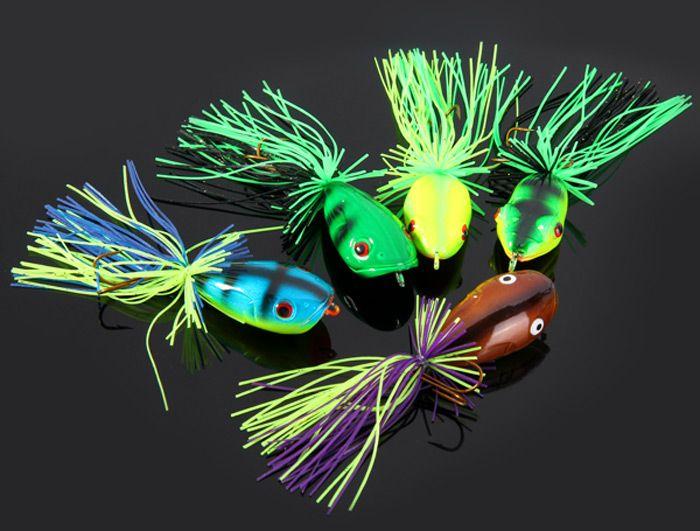 Yoshikawa 5pcs Lifelike Frog Shaped Hard Fishing Lure 10cm Bait with Hooks