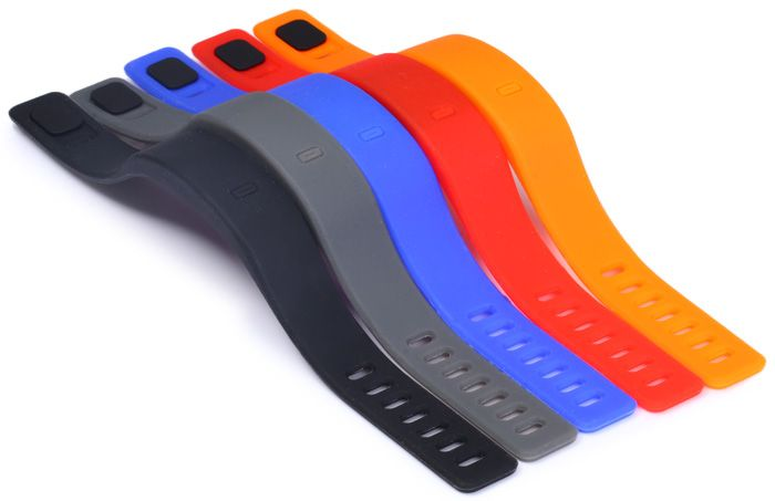 HZ55 LED Sports Watch with Red Subtitles Date Display Rubber Strap Rectangle Dial