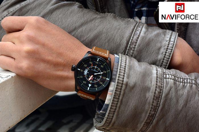 Naviforce 9044 Water Resistant Male Military Japan Quartz Watch Date Display