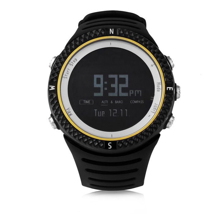 Spovan FX801 Outdoor Sports Digital Watch Water Resistance with Altimeter Barometer Compass Function