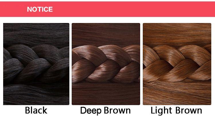 Fashion Silky Straight Full Bang Heat Resistant Fiber Noble Long Capless Wig For Women