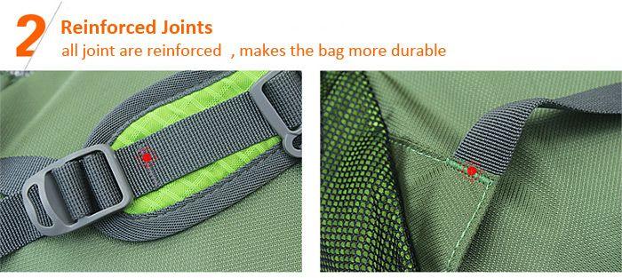 BOLANG Large 35L Lightweight Folding Backpack Double Shoulders Bag for Men / Women