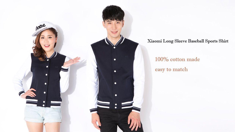 Xiaomi Autumn Sweatshirt Long Sleeve Baseball Sports T-shirt for Young Men