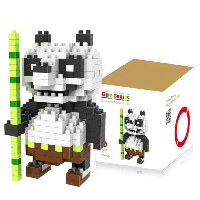 LOZ 200Pcs Cute Panda Building Block Creative Kid Toy M - 9339