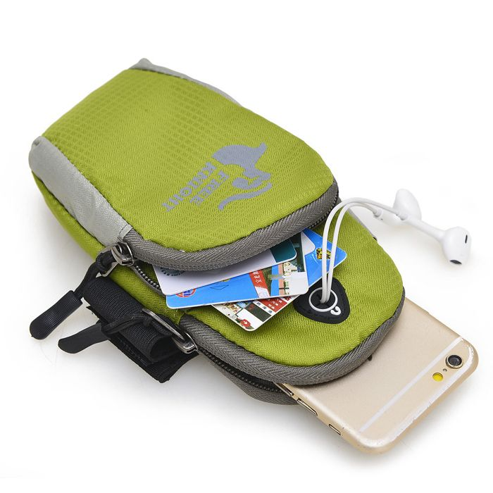 Mobile Phone Arm Bag with Double-layer Pocket Design for Jogging