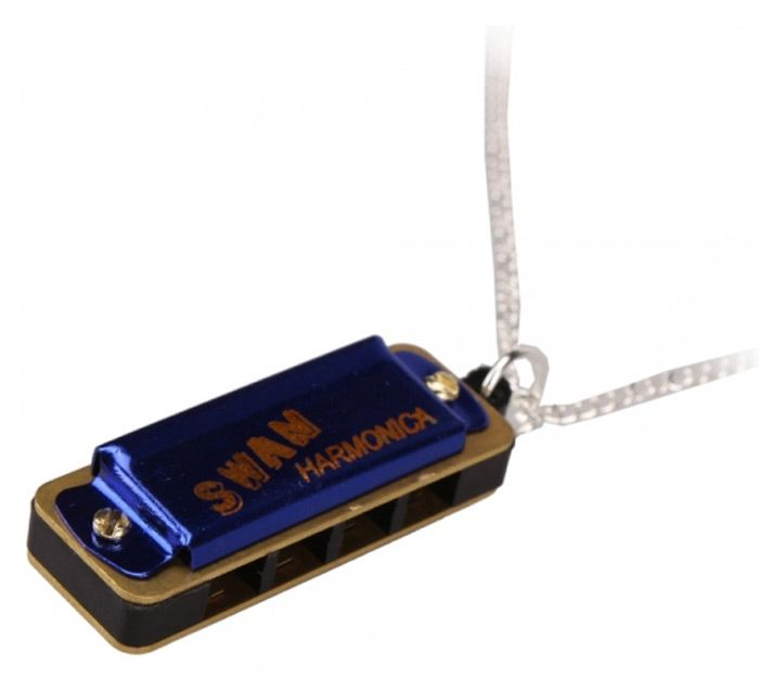 Cute Swan Necklace Style Mini Harmonica 4 Hole 8 Tone