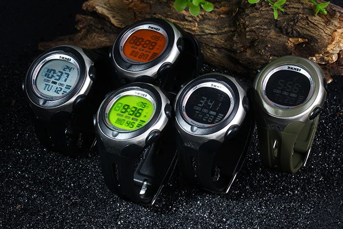 Skmei 1080 Men Sports Digital Watch 5ATM Water Resistant Temperature Display
