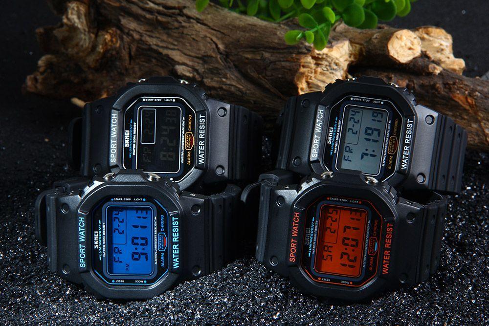 Skmei 1134 Sports Men Digital Wrist Watch Week Alarm Backlight  5ATM Water Resistant