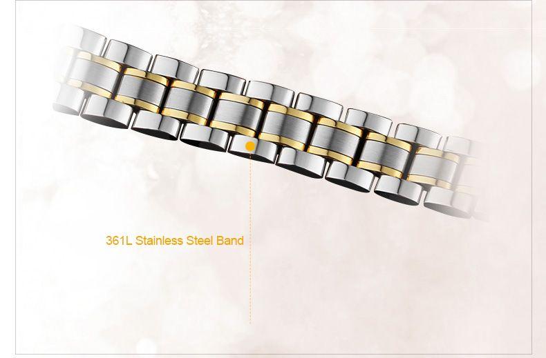 GUANQIN Men Calendar Rhinestone Luminous Quartz Watch with 30M Water Resistant