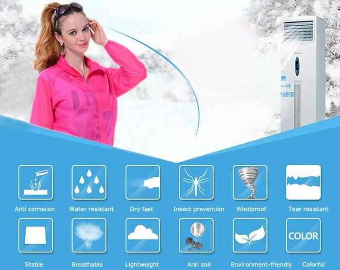 CHAOTA Outdoor Unisex Lightweight UV-resistant Skin Windbreaker