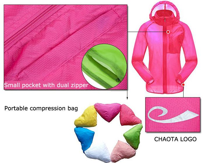 CHAOTA Outdoor Unisex Lightweight UV-resistant Skin Windbreaker