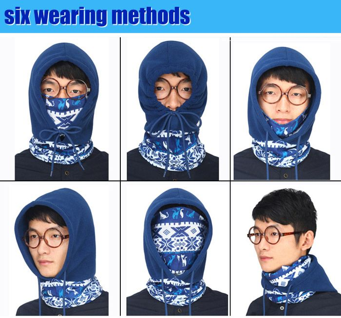 Cycling Anti-static Masked Hat + Kerchief Polar Fleece Made