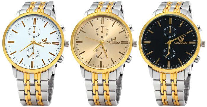 Orlando Z400 Men Quartz Watch Decorative Sub-dials Wristwatch