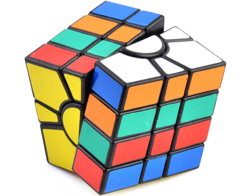 Irregular 4-layer Tuning Spring Magic Cube ( Skill Level 4 ) Brain Teaser Educational Toy Black Base