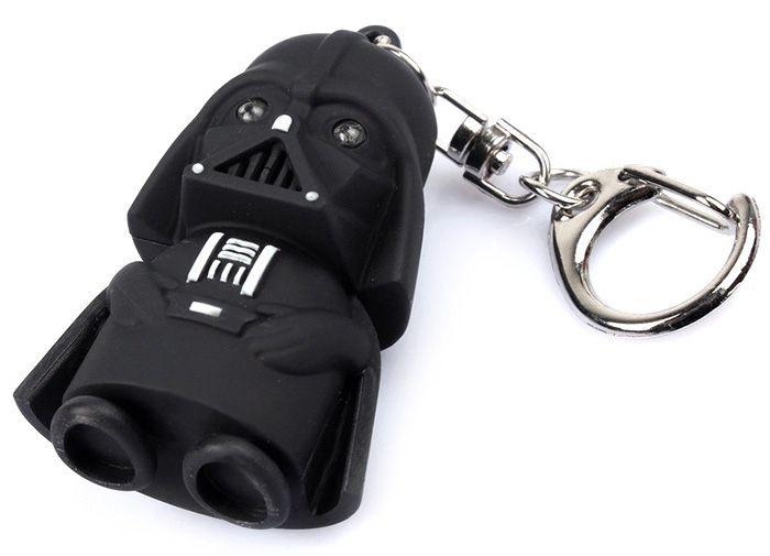 Key Chain Movie Figure Black Knight Darth Vader Key Ring with White Light / Sound