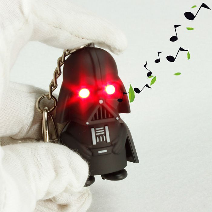 Key Chain Movie Figure Black Knight Key Ring with Red Light / Sound