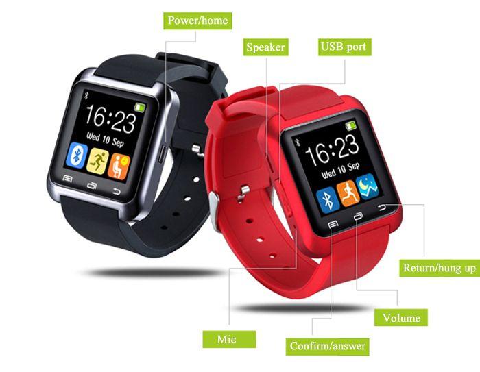 U80 Smart Watch with Sleep Monitor Pedometer Function