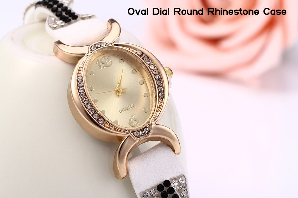 Women Bracelet Quartz Wrist Watch Rhinestone Chain