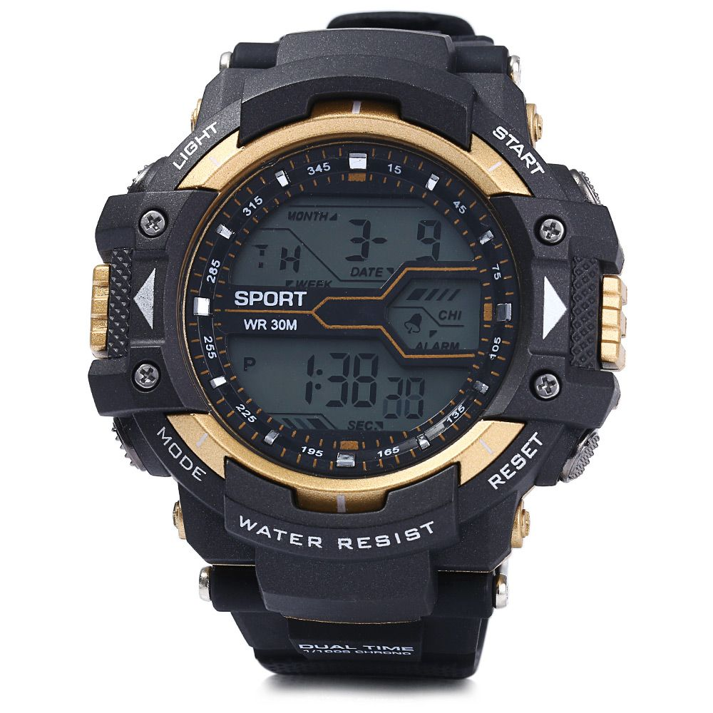 8338g alarm day date stopwatch display men led sports watch 8338g alarm day date stopwatch display men led sports watch