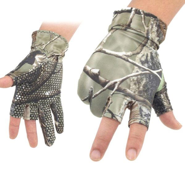Pair of Cycling Fishing Show Three Finger Non-Slip Flexible Gloves